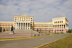 Die kasachische staatliche Universität des Gesetzes in Astana stockfotos