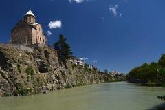 Die Kathedrale der Heiligen Dreifaltigkeit - die Hauptkathedrale der georgischen orthodoxen Kirche stockfotografie