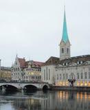 Die Kathedrale der Jungfrau, Fraumyunster (FraumÃ-¼ nster) Zürich, die Schweiz Lizenzfreie Stockfotografie