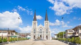 Die Kathedrale der Unbefleckten Empfängnis Chanthaburi THAILAND Stockfotos