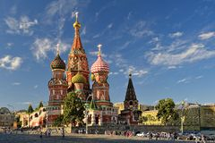 Die Kathedrale des Heilig-Basilikums, Roter Platz, Moskau stockbilder