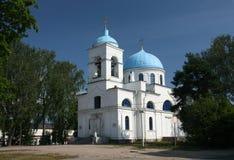 Die Kathedrale in Priozersk stockfotos