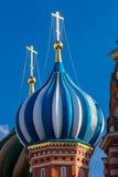 Die Kathedrale St.-Basilikums in Moskau an einem sonnigen Tag Lizenzfreie Stockfotos
