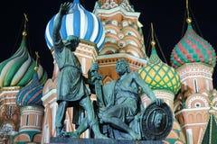 Die Kathedrale und das Monument St.-Basilikums zu Minin und zu Pozharsky Lizenzfreie Stockfotos