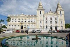 Die Kathedrale Victoria am Sao Luis tun Maranhao, Brasilien lizenzfreies stockfoto