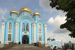 Die Kathedrale Vladimir Icons der Mutter des Gottes in Zadonsk-Stadt, Russland lizenzfreie stockbilder