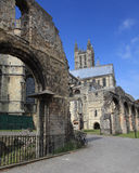 Die Kathedrale von Canterbury an einem sonnigen Tag Lizenzfreies Stockfoto