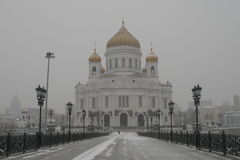 Die Kathedrale von Christ der Retter in Moskau lizenzfreies stockbild