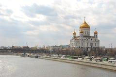 Die Kathedrale von Christus der Retter in der Stadt Moskau stockfotografie