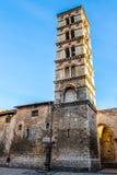 Die Kathedrale von Santa Maria Assunta, in Sermoneta; nahe Latina, Stockfotos