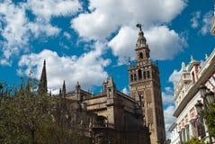 Die Kathedrale von Sevilla, Spanien Stockfotos