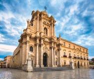 Die Kathedrale von Syrakus stockfotos