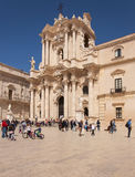 Die Kathedrale von Syrakus Lizenzfreie Stockfotos