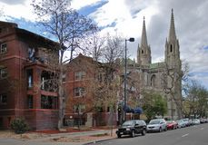 Die Kathedralen-Basilika der Unbefleckten Empfängnis denver USA Lizenzfreie Stockfotografie