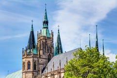 Die katholische Erfurt-Kathedrale Lizenzfreies Stockfoto