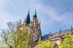 Die katholische Erfurt-Kathedrale Stockfotos