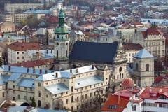 Die katholische Kathedrale in Ukraine Stockbild