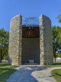 Die katholische Todqual von Christus-Kapelle von Dachau-Konzentrationslager, Deutschland Stockbilder