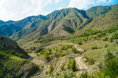 Die Kaukasus-Berge Stockfoto