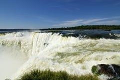 Die Kehle des Teufels bei den Iguaçu-Wasserfälle in Argentinien Lizenzfreies Stockbild
