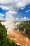 Die Kehle des Teufels von den Iguaçu-Wasserfälle, Brasilien, Argentinien stockfotos