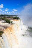 Die Kehle des Teufels von die Iguaçu-Wasserfälle Abschluss, Brasilien stockbilder