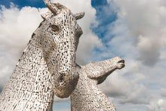 Die Kelpies - Falkirk - Schottland stockfotos
