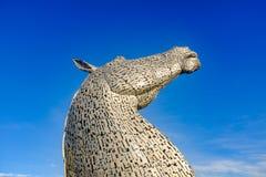 Die Kelpiesskulptur durch Andy Scott, Falkirk, Schottland Lizenzfreie Stockbilder