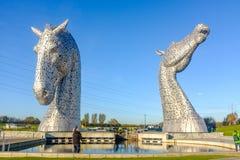 Die Kelpiesskulptur durch Andy Scott, Falkirk, Schottland Lizenzfreies Stockbild