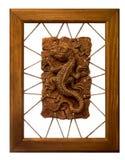 Die keramische Eidechse Stockbilder