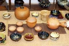 Die keramischen Produkte Stockbilder