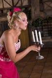 Die Kerzen heraus durchbrennen Lizenzfreies Stockfoto
