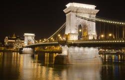Die Kettenbrücke in Budapest Lizenzfreies Stockfoto