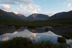 Die Khibiny Berge Stockbild