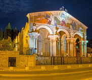 Die Kirche am Abend Lizenzfreies Stockbild