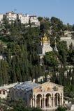 Die Kirche aller Nationen und Kirche von Mary Magdalene stockfotografie