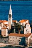 Die Kirche alter Stadt Budva, Montenegro, Kotor-Bucht, die Balkan Lizenzfreie Stockbilder