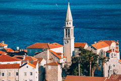 Die Kirche alter Stadt Budva, Montenegro, Kotor-Bucht, die Balkan Lizenzfreies Stockbild