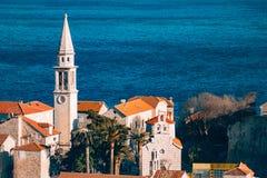 Die Kirche alter Stadt Budva, Montenegro, Kotor-Bucht, die Balkan Lizenzfreie Stockfotos