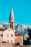 Die Kirche alter Stadt Budva, Montenegro, Kotor-Bucht, die Balkan Stockbilder