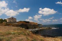 "Die Kirche ""The Annahme von St Mary, Tsarevo, Bulgarien Stockfotografie"