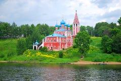 Die Kirche auf der Querneigung des Volga-Flusses, Lizenzfreie Stockfotos