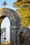 Die Kirche auf Rhodos-Insel Stockbilder
