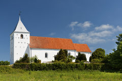 Die Kirche bei Ovsted Stockfoto
