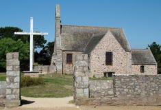 Die Kirche in Bretagne Lizenzfreies Stockfoto
