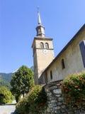 Die Kirche in Contamines-Montjoi, Frankreich Lizenzfreie Stockfotografie