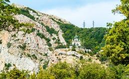 Die Kirche der Auferstehung in Foros, Krim stockfotografie