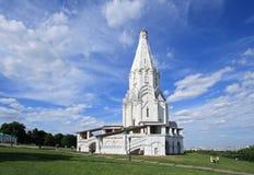 Die Kirche der Besteigung (1532), Kolomenskoye, Moskau, Russland Lizenzfreies Stockfoto