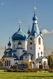 Die Kirche der Geburt Christi in Srednyaya Rogatka im Heiligen-Petersb Stockfoto