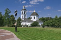 Die Kirche der gesegneten Jungfrau, Tsaritsyno Lizenzfreie Stockfotos